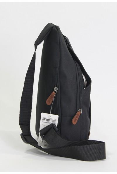 Seventeen Kumaş Çapraz Sırt ve Omuz Çantası Body Bag Siyah