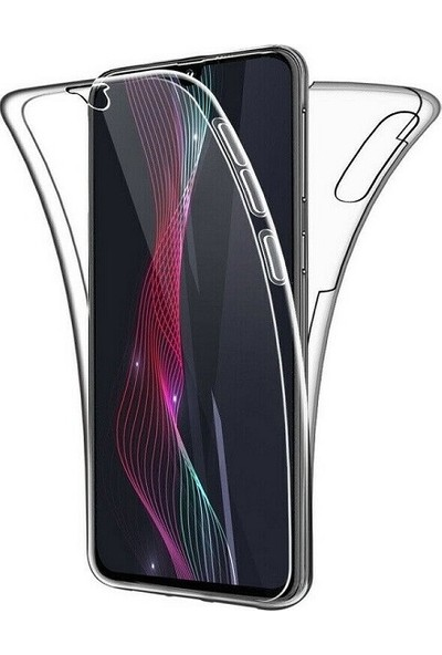 Kılıfreyonum Samsung Galaxy A30 Ön Arka Şeffaf 360 Derece Tam Korumalı Kılıf