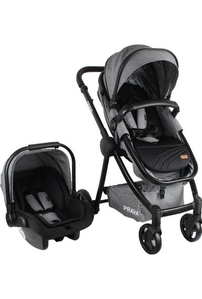 Prava P14 Travel Sistem Lüks Bebek Arabası Siyah - Gri