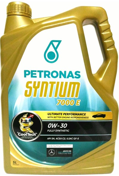 Petronas SYNTIUM 0W-30 7000 E 5L Partiküllü Motor Yağı (Jaguar/Ford/Peugeot/Citroen Onaylı - Mercedes Tavsiyeli) (12.09.2019 YENİ ÜRETİM)