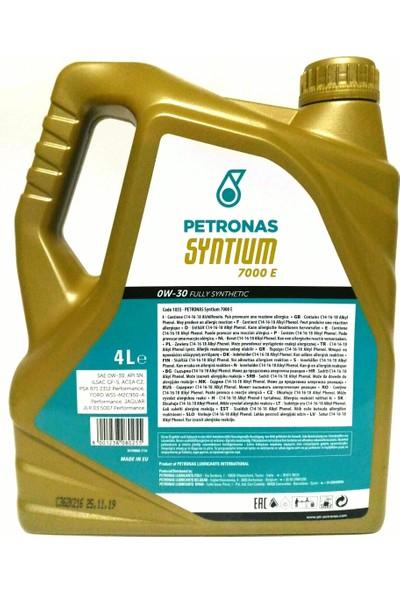 Petronas SYNTIUM 0W-30 7000 E 4L Partiküllü Motor Yağı (Jaguar/Ford/Peugeot/Citroen Onaylı - Mercedes Tavsiyeli) (25.11.2019 YENİ ÜRETİM)