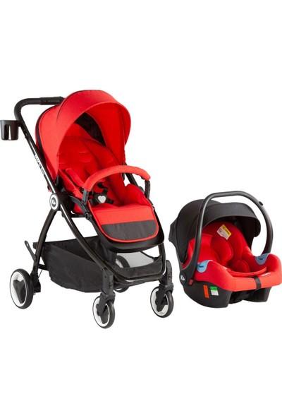 Kraft Sharp Travel Sistem Bebek Arabası - Kırmızı