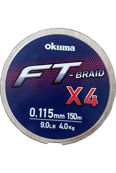 Okuma Ft-*4 Braided Line 150 mt Grey Örgü Ip