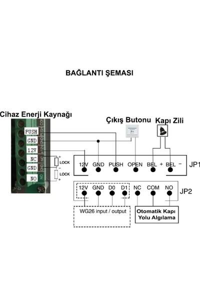 Sonex RFID Okuyucu Şifreli Geçiş Kapı Göstergeç Sistemi 5 Proximity Kart ve 5 Manyetik Anahtarlık