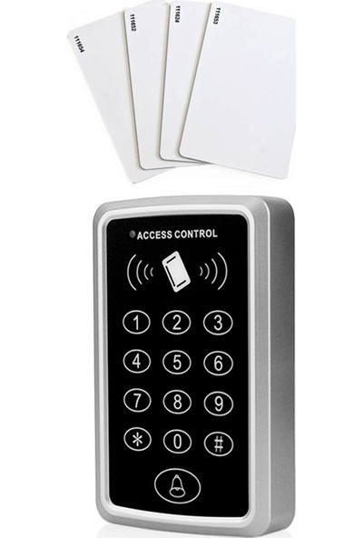Sonex RFID Proximity Kart Okuyucu Şifreli Geçiş Kapı Göstergeç Sistemi 10 Adet Kart