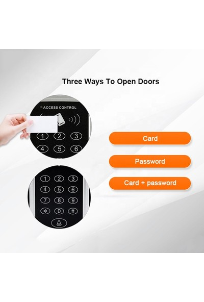 Sonex RFID Proximity Kart Okuyucu Şifreli Geçiş Kapı Göstergeç Sistemi 50 Adet Kart