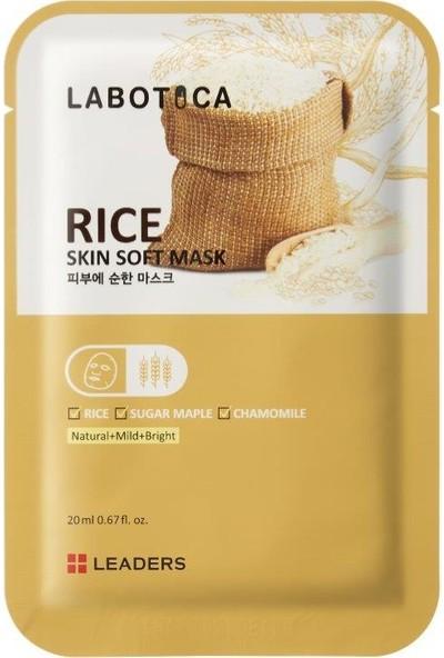 Leaders Labotica Pirinç Özlü Aydınlatıcı Maske