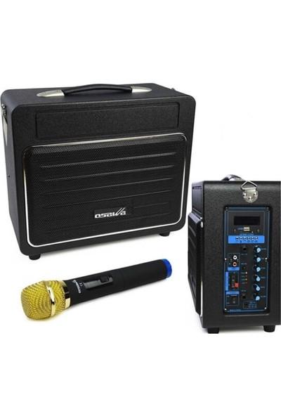 Osawa 120 Watt Şarjlı ve Mikrofonlu Seyyar Mevlüt Anfisi 120W