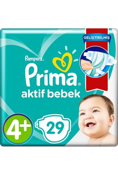 Prima Bebek Bezi Aktif Bebek 4+ Beden 29 Adet Standard Paket