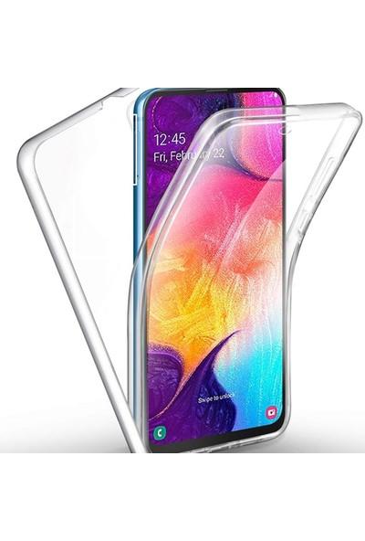Gpack Samsung Galaxy A51 Kılıf Ön Arka Şeffaf Silikon Koruma Şeffaf