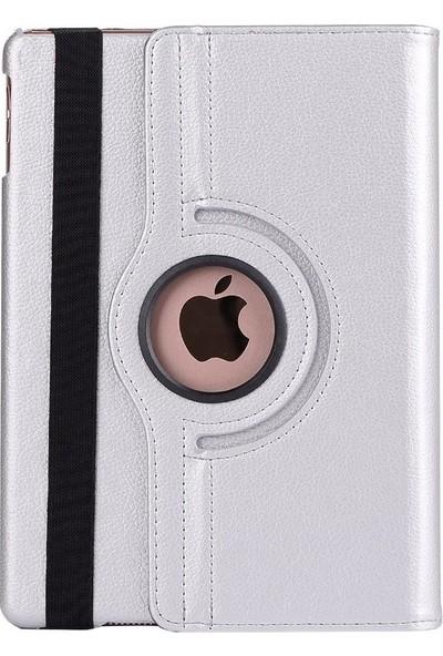 """Essleena Apple Kılıf Seti iPad Pro 12.9 1.Nesil (2015) 12.9"""" 360 Derece Dönerli Kılıf+Kalem+9H Cam+Şarj Kablosu 2m+Kulaklık+Aux (A1584/A1652) - Gri"""