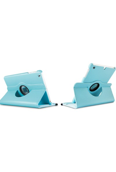 "Essleena Apple Kılıf Seti iPad Mini 2.Nesil (2013/2014) 7.9"" 360 Derece Dönerli Kılıf+Kalem+9H Cam+Şarj Kablosu 2m+Sport Bluetooth Kulaklık (A1489/A1490/A1491) - Gri"