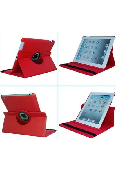 """Essleena Apple Kılıf Seti iPad 2.Nesil (2011) 9.7"""" 360 Derece Dönerli Kılıf+Kalem+Koruyucu Film+Şarj Kablosu+Kulaklık (A1395/A1396/A1397) - Gri"""