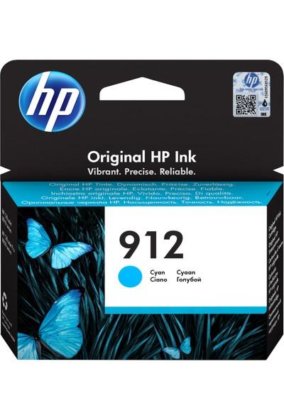 HP 912 Cyan Mürekkep Kartuşu 3YL77AE
