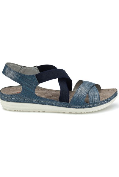 Polaris 161164.Z Mavi Kadın Sandalet