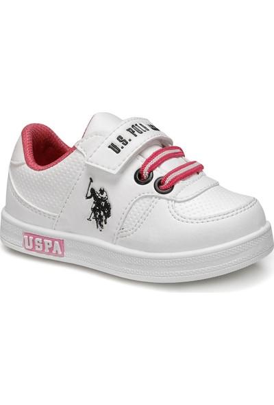 U.S. Polo Assn. Cameron Beyaz Kız Çocuk Sneaker Ayakkabı