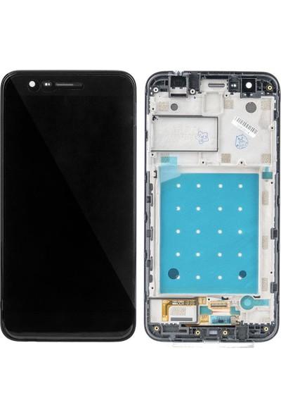 Ekranbaroni LG K11 LCD Ekran Dokunmatik Çıtalı Çerçeveli Full Ekran