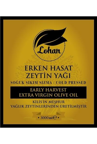 Lohan Erken Hasat Soğuk Sıkım Sızma Zeytinyağı 3 Lt