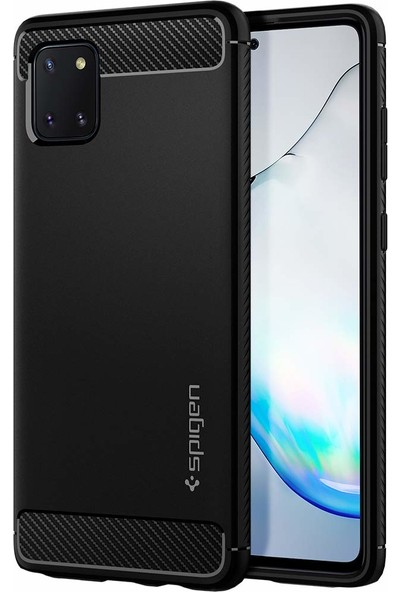 Spigen Samsung Galaxy Note 10 Lite Kılıf Rugged Armor Matte Black - ACS00677