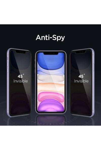 Spigen Apple iPhone 11 / iPhone XR Privacy Hayalet Cam Ekran Koruyucu Kolay Kurulum AlignMaster - AGL00103