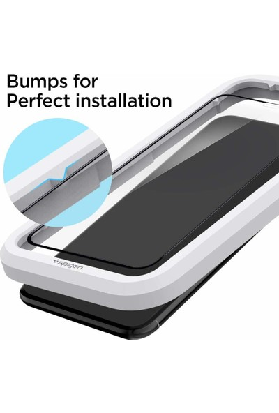 Spigen Apple iPhone 11 Pro / iPhone XS / iPhone X Cam Ekran Koruyucu Kolay Kurulum AlignMaster Full Cover Black / Siyah - AGL00114