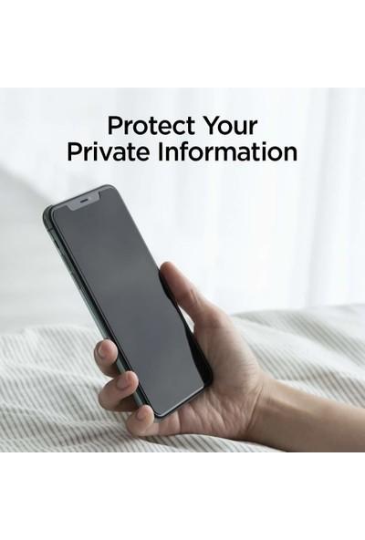 Spigen Apple iPhone 11 Pro / iPhone XS / iPhone X Cam Ekran Koruyucu Kolay Kurulum AlignMaster Privacy - AGL00111