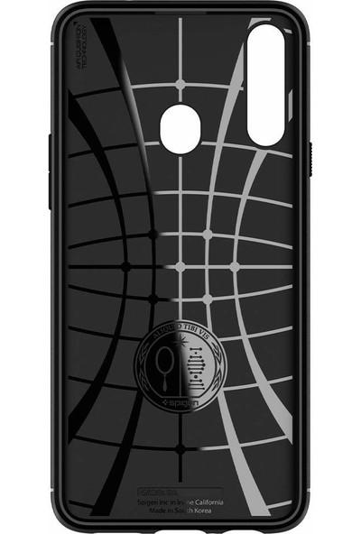 Spigen Samsung Galaxy A20s Kılıf Rugged Armor Matte Black - ACS00561