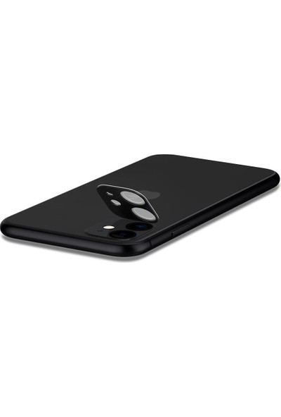 Spigen Apple iPhone 11 Kamera Lens Cam Ekran Koruyucu Full Cover Black / Siyah (2 Adet) - AGL00506