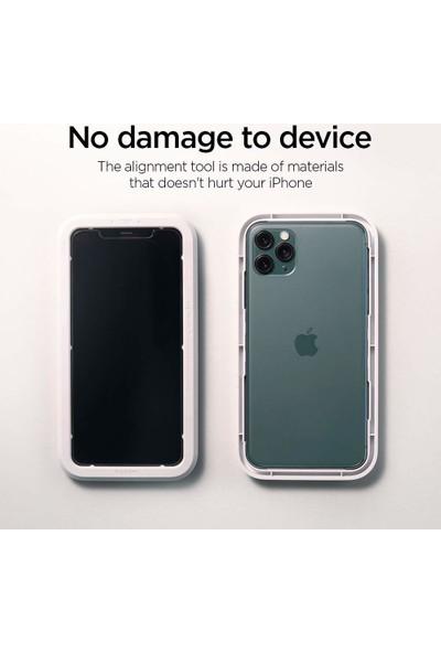 Spigen Apple iPhone 11 Pro Max / iPhone XS Max Cam Ekran Koruyucu Kolay Kurulum AlignMaster GLAS.tR (2 Adet) - AGL00093
