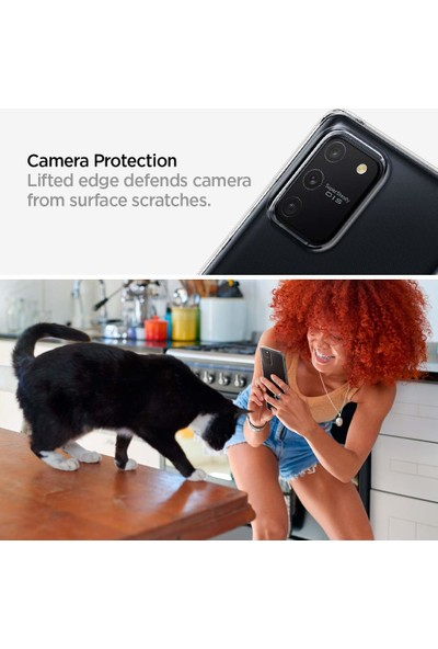 Spigen Samsung Galaxy S10 Lite Kılıf Liquid Crystal 4 Tarafı Tam Koruma Crystal Clear - ACS00687