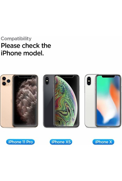 Spigen Apple iPhone 11 Pro / iPhone XS / iPhone X Cam Ekran Koruyucu Kolay Kurulum AlignMaster GLAS.tR (2 Adet) - AGL00109