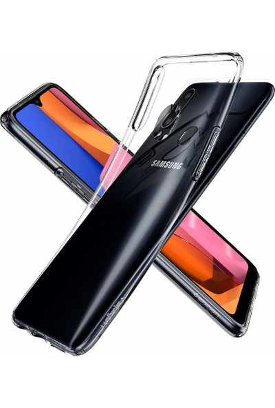Spigen Samsung Galaxy A20s Kılıf Liquid Crystal 4 Tarafı Tam Koruma Crystal Clear - ACS00562