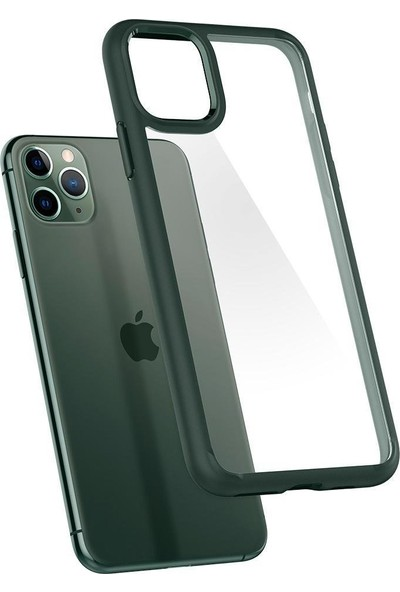 Spigen Apple iPhone 11 Pro Kılıf Ultra Hybrid Midnight Green - ACS00417