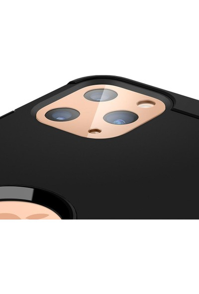 Spigen Apple iPhone 11 Pro Max / iPhone 11 Pro Kamera Lens Cam Ekran Koruyucu Full Cover Gold / Altın (2 Adet) - AGL00504