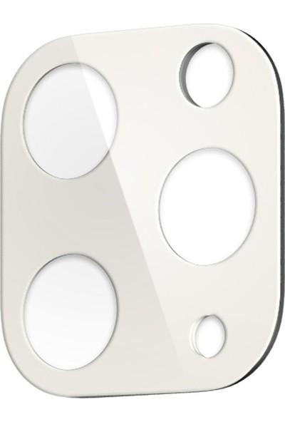 Spigen Apple iPhone 11 Pro Max / iPhone 11 Pro Kamera Lens Cam Ekran Koruyucu Full Cover Silver / Gümüş (2 Adet) - AGL00502