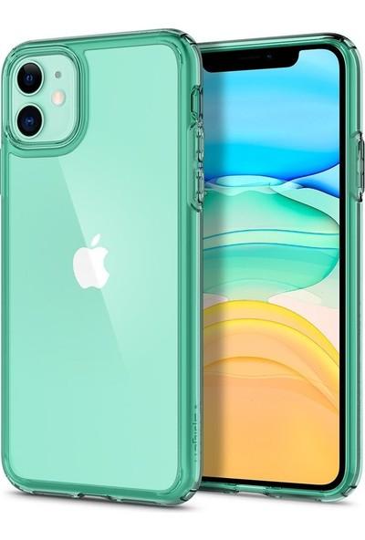 Spigen Apple iPhone 11 Kılıf Ultra Hybrid Green Crystal - ACS00406