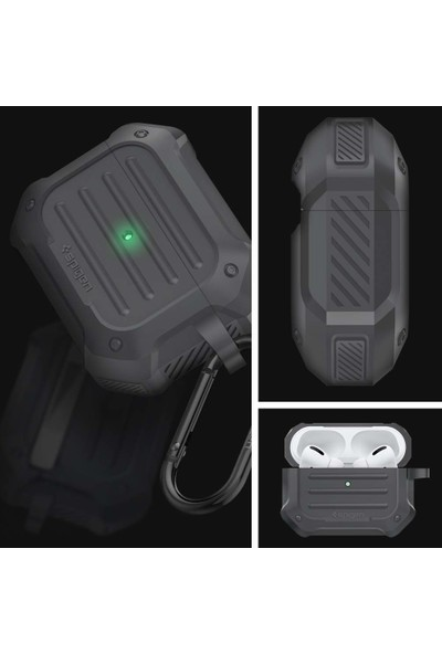 Spigen Apple AirPods Pro Kılıf Tough Armor Charcoal - ASD00538