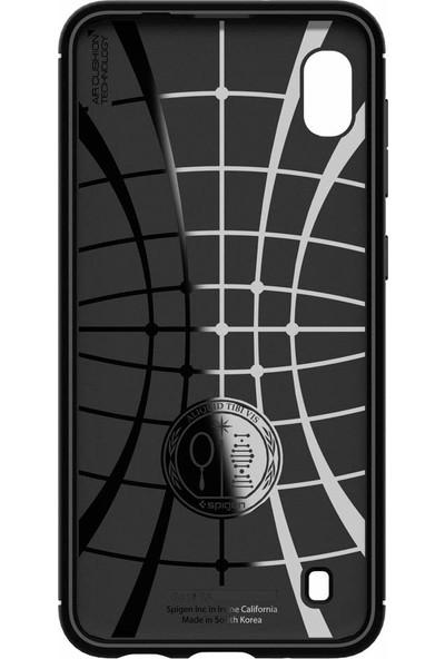 Spigen Samsung Galaxy A10 Kılıf Rugged Armor Matte Black - ACS00556