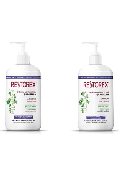 Restorex Sarmaşık Özlü Ekstra Direnç Şampuan 1000 ml x 2 Adet