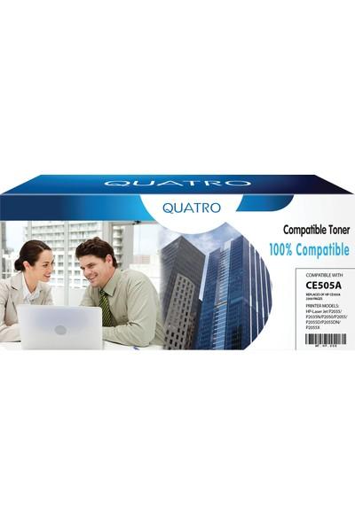 Quatro Toner Hp 505A 280A Canon 719 416 2700 Sayfa Siyah