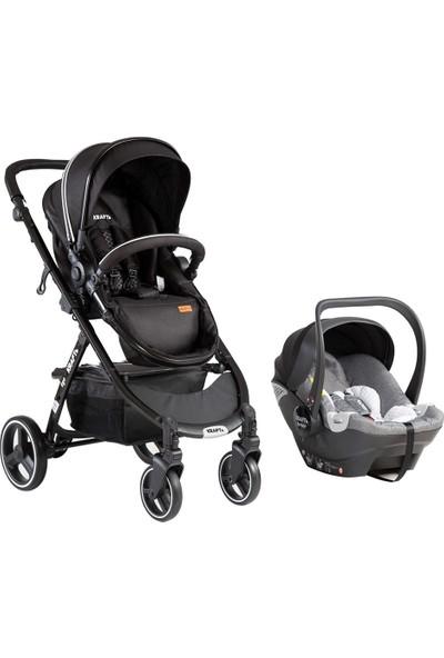 Kraft Ego Travel Sistem Bebek Arabası - Siyah