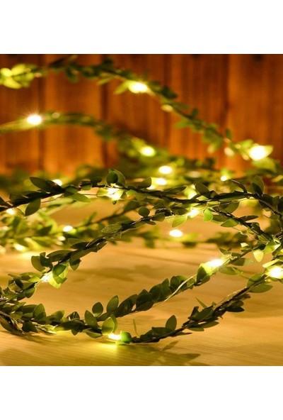 CajuArt Yapay Yapraklı Yeşil Sarmaşık Peri LED Işık 3 m