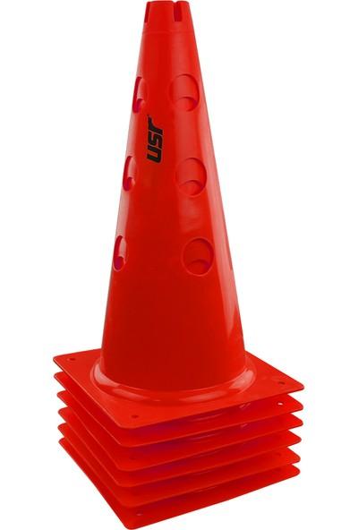 USR AHD38K 6 lı 38 Cm Delikli Antrenman Huni Seti Kırmızı