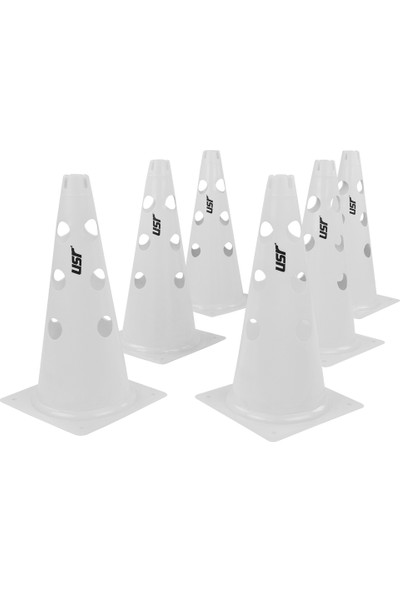 USR AHD38B 6 lı 38 Cm Delikli Antrenman Huni Seti Beyaz