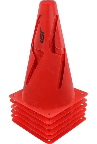 USR AHK23K 6 lı 23 Cm Kırılmaz Antrenman Huni Seti Kırmızı
