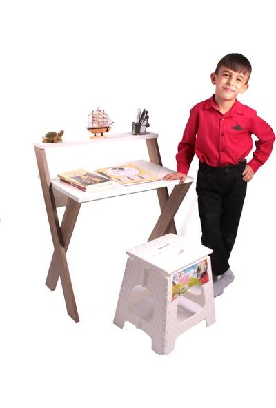Enda Ayaklı Mini Çocuk Ders Çalışma Masası