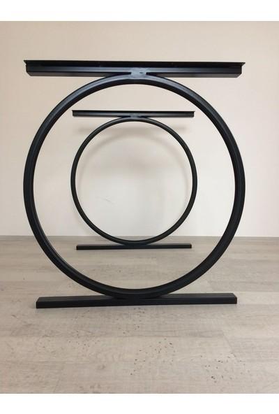 Abronya Yuvarlak Dekoratif Şık ve Tasarım Metal Mobilya Ayakları