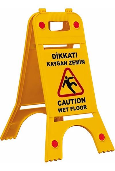İlgi Trafik Portatif Uyarı ve Reklam Levhası Dikkat Kaygan Zemin
