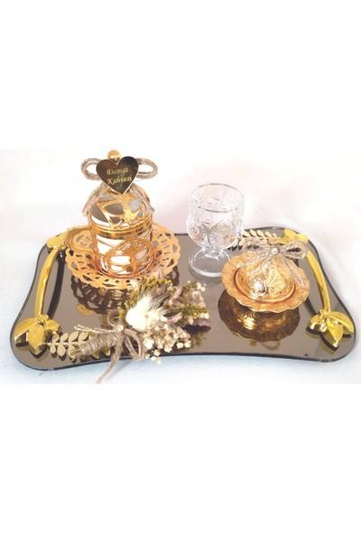 Naciden Gold Detay Dalgalı Damat Fincanı Damat Kahvesi