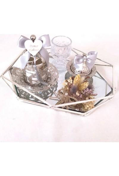 Naciden Prizma Gümüş Damat Fincanı Damat Kahvesi